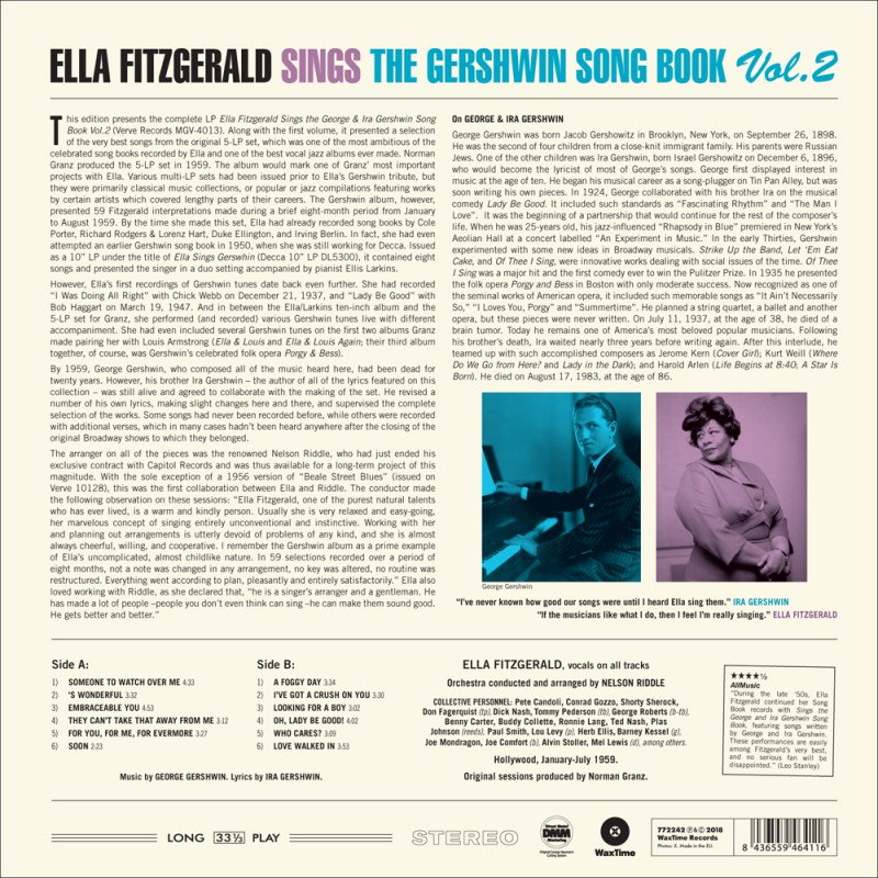 2 · Sings the Gershwin Song Book Vol. 2