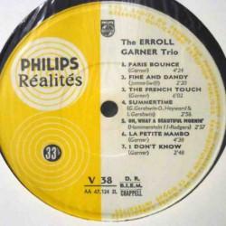 The Erroll Garner Trio (French Reissue) No Cover