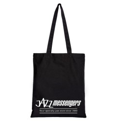 Jazz Messengers - Black Tote Bag - White Lettered