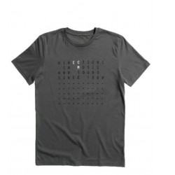 "ECM T-Shirt ""Directions…"" anthracite grey (size L)"