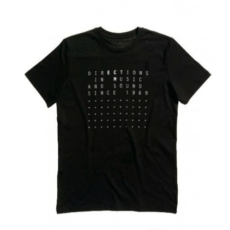 "ECM T-Shirt ""Directions in Music…"" black (size S)"