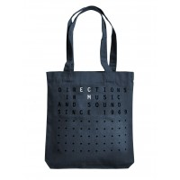 """ECM Tote Bag """"Directions in music…"""" Midblue"""
