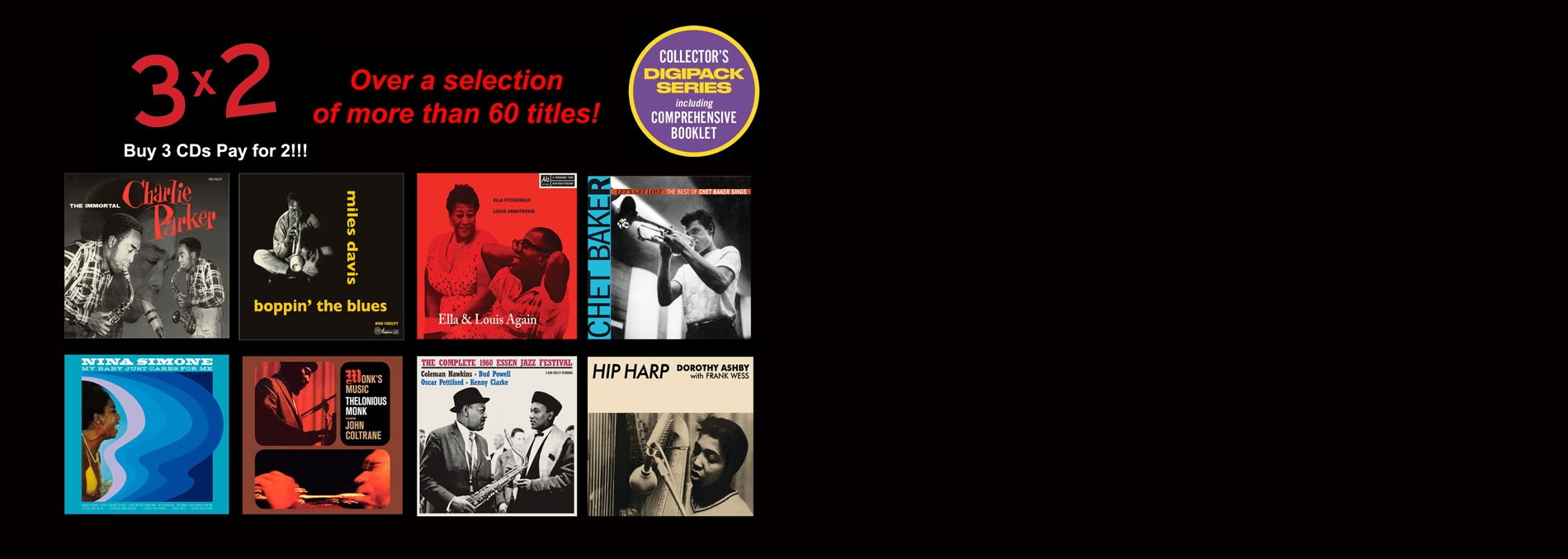 3 X 2 ON COLLECTOR'S JAZZ EDITIONS