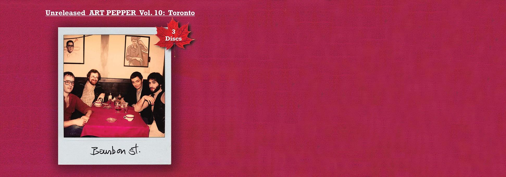 Art Pepper in Toronto